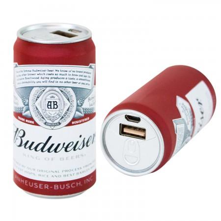 Budweiser Replica Beer Can Power Bank