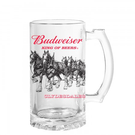Budweiser Clydesdale 16 Ounce Beer Mug