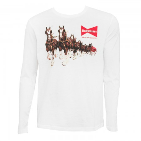 Budweiser Long Sleeve White Clydesdale T-Shirt