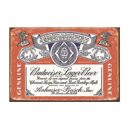 Budweiser Vintage Label Magnet