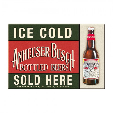 Budweiser Ice Cold Bottles Logo Magnet