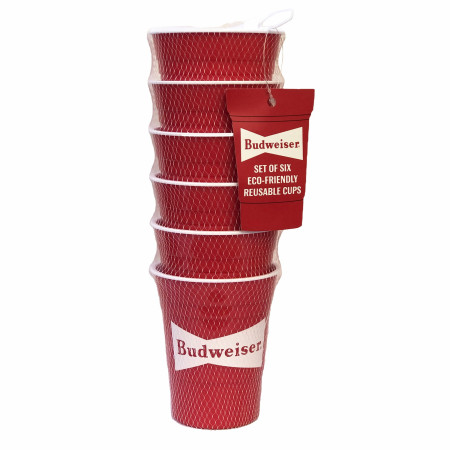 Budweiser Eco-Friendly Reusable 6-Pack of Plastic Cups