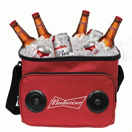 Budweiser 24 Can Bluetooth Speaker Cooler Bag