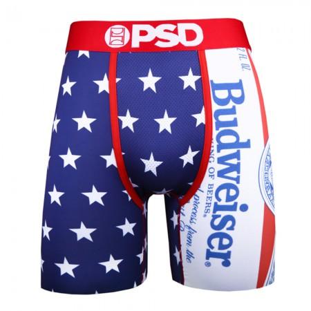 Budweiser Patriotic Stars American Flag Men's Boxer Briefs