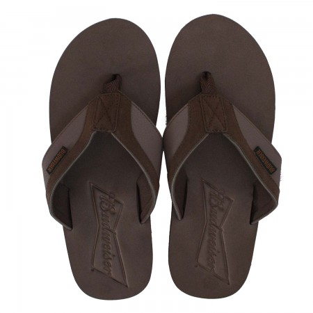 Budweiser Men's Brown Flip Flops