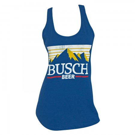 Busch Beer Logo Racerback Women's Blue Tank Top