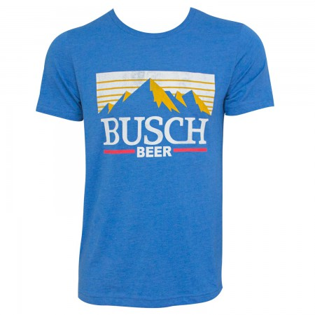 Busch Men's Blue Mountain Logo T-Shirt