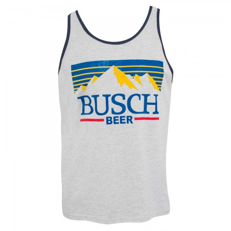 Busch Men's Grey Mountain Logo Tank Top