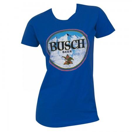 Busch Women's Blue Round Logo T-Shirt
