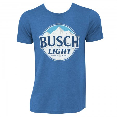 Busch Light Men's Heather Blue Round Logo T-Shirt