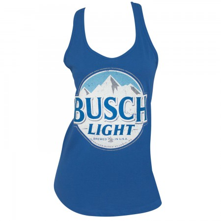 Busch Light Logo Women's Racerback Blue Tank Top