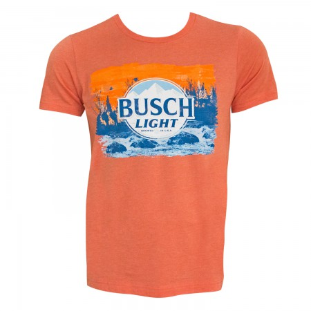 Busch Light Men's Orange T-Shirt