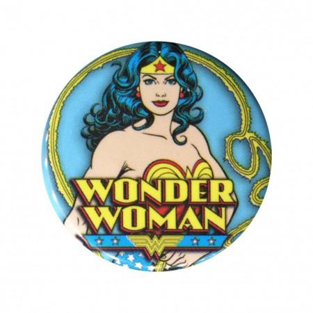 Wonder Woman Blue Button