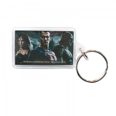 Batman V Superman & Wonder Woman Lucite Keychain