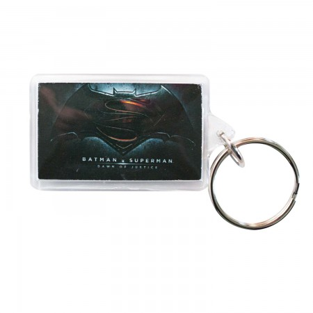 Batman V Superman Lucite Logo Keychain