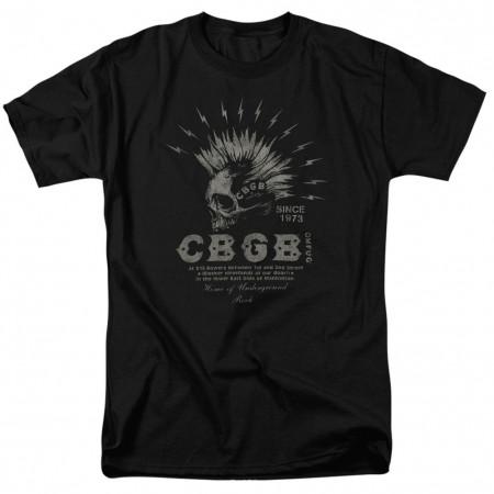 CBGB Electric Skull Tshirt