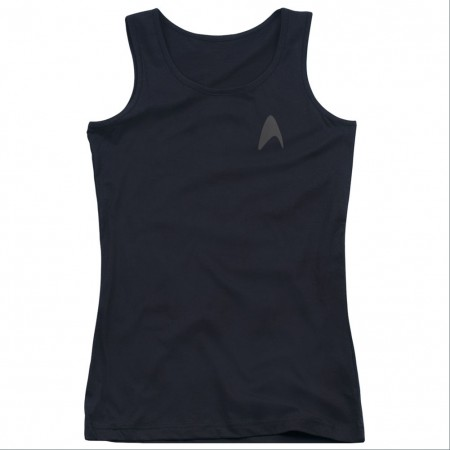 Star Trek Darkness Command Black Juniors Tank Top