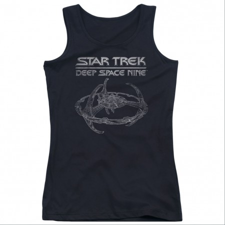 Star Trek Deep Space Nine Black Juniors Tank Top