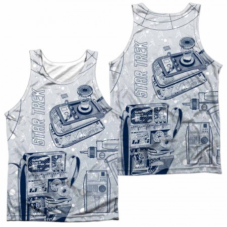 Star Trek Gadgets Sublimation Tank Top