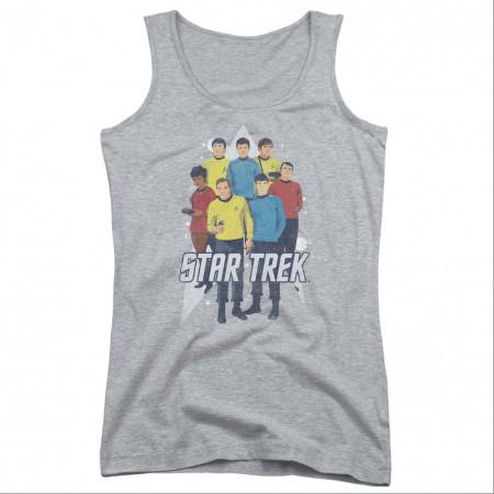 Star Trek Here Here Gray Juniors Tank Top