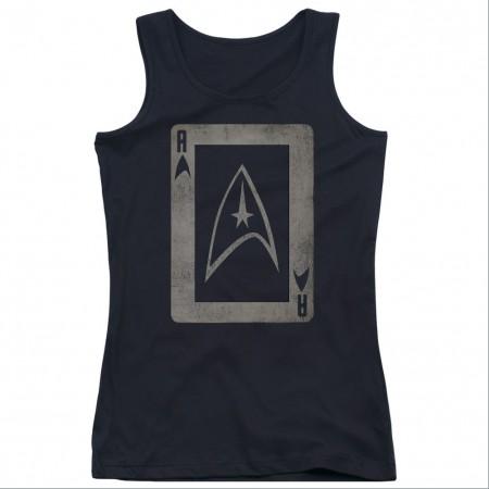 Star Trek TOS Ace Black Juniors Tank Top