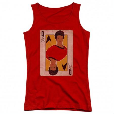 Star Trek TOS Queen Red Juniors Tank Top