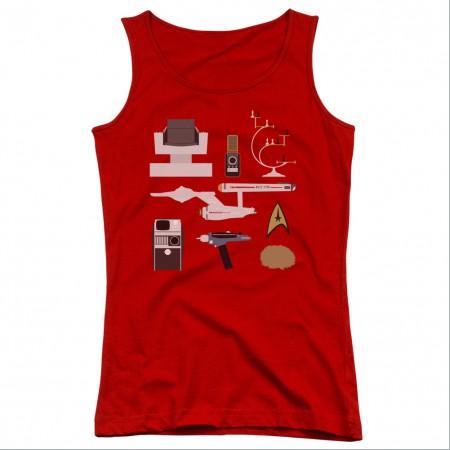 Star Trek TOS Gift Set Red Juniors Tank Top