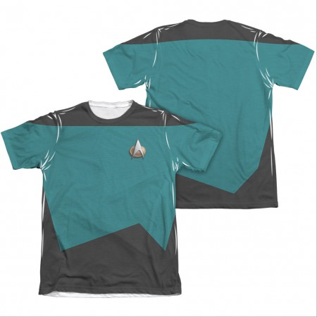 Star Trek TNG Science Two-Sided Costume Blue Sublimation T-Shirt