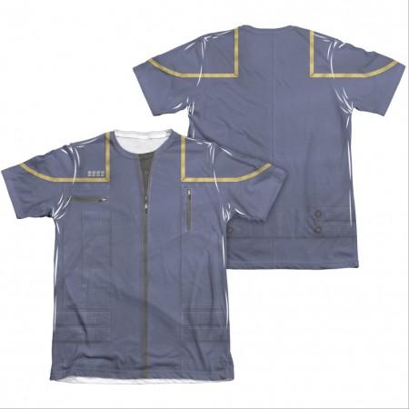 Star Trek Enterprise Command Two-Sided Costume Sublimation T-Shirt