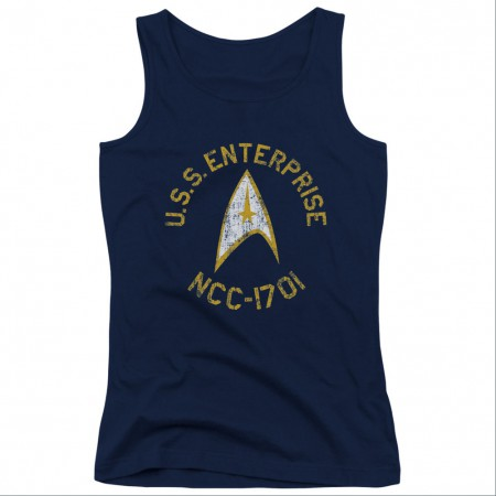 Star Trek Collegiate Blue Juniors Tank Top