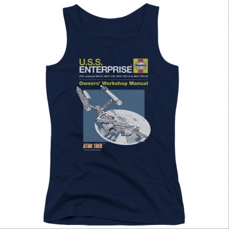 Star Trek Enterprise Manual Blue Juniors Tank Top