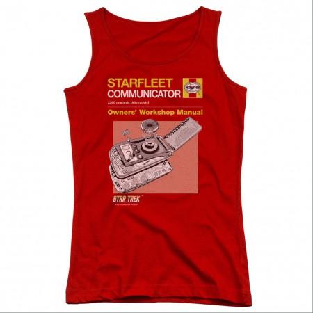 Star Trek Communicator Manual Red Juniors Tank Top