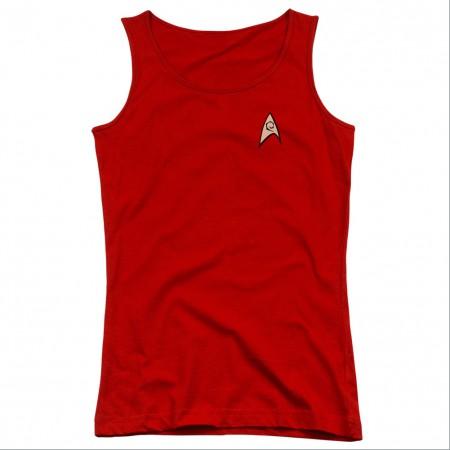 Star Trek Engineering Uniform Red Juniors Tank Top