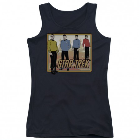 Star Trek Classic Crew Black Juniors Tank Top