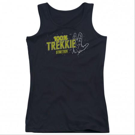 Star Trek 100% Trekkie Black Juniors Tank Top