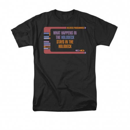 Star Trek What Happens In The Holodeck Black T-Shirt