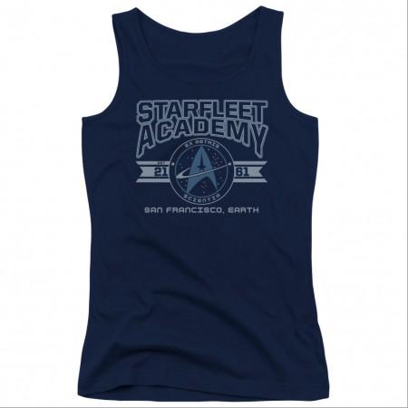 Star Trek Starfleet Academy Blue Juniors Tank Top