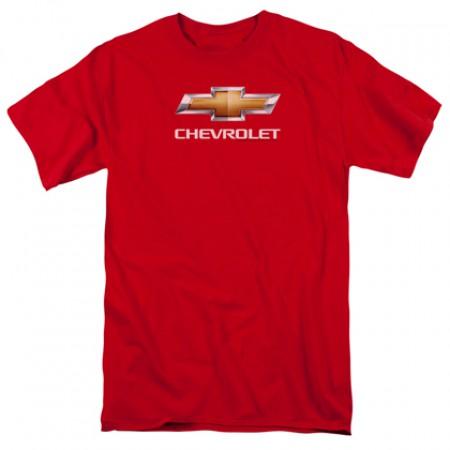 Chevrolet Chevy Bowtie Logo Red Tshirt