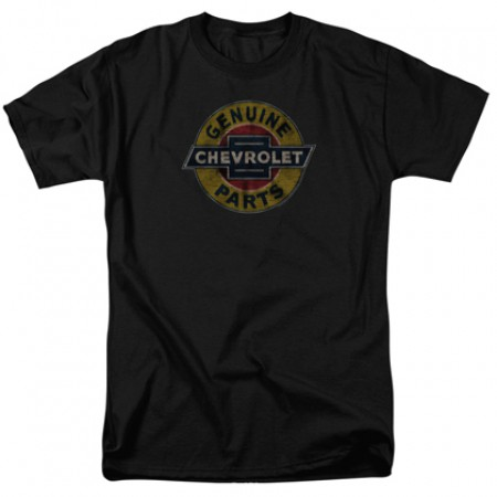 Chevrolet Chevy Genuine Parts Vintage Sign Tshirt
