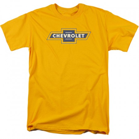 Chevrolet Chevy Blue and Gold Vintage Logo Tshirt