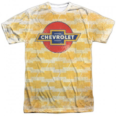 Chevrolet Chevy Repeating Gold Logo Tshirt