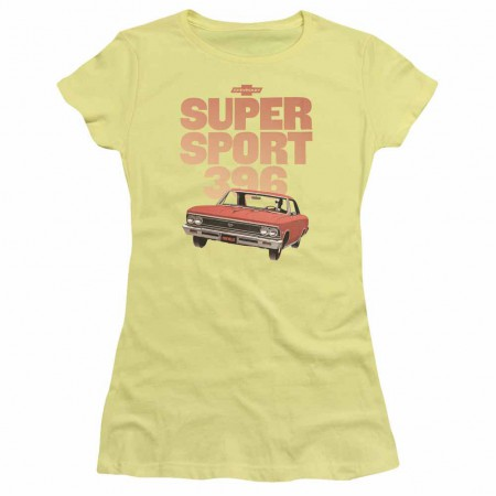 Chevy Super Sport 396 Yellow Juniors T-Shirt