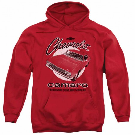 Chevy Retro Camaro Red Pullover Hoodie}