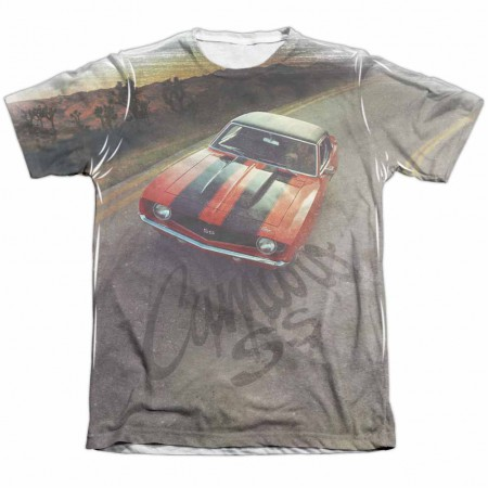 Chevy Camaro SS White Sublimation T-Shirt