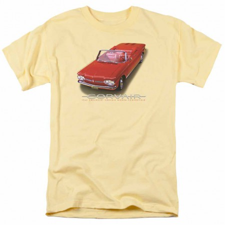 Chevy 62 Corvair Convertible Yellow T-Shirt