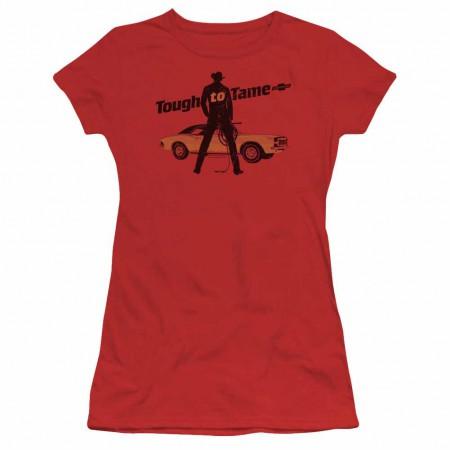 Chevy Tough To Tame Red Juniors T-Shirt
