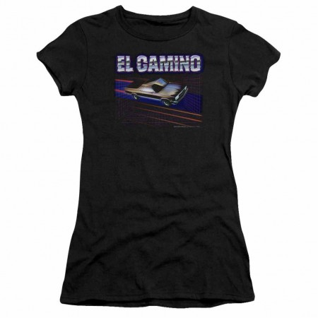 Chevy El Camino 85 Black Juniors T-Shirt