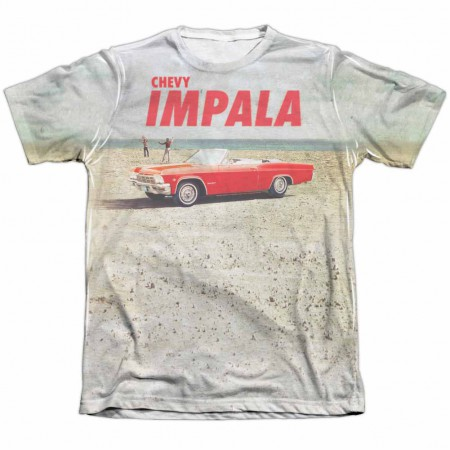 Chevy Beach Impala White Sublimation T-Shirt