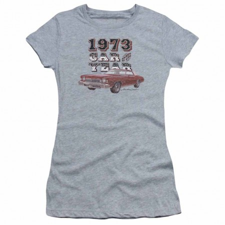 Chevy Car Of The Year Gray Juniors T-Shirt