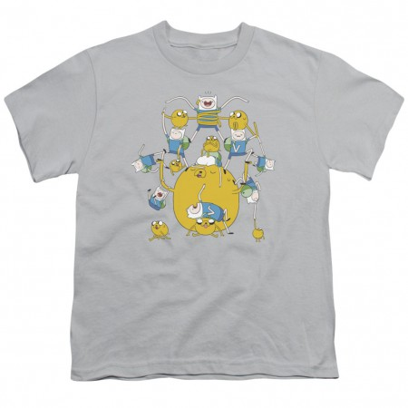 Adventure Time Finn and Jake Having Fun Youth Tshirt